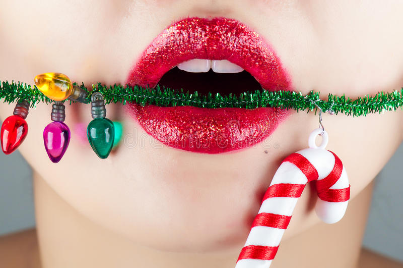 Download Christmas Lip Royalty Free Stock Image - Image: 28276256