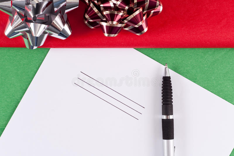 Christmas List Stock Photography