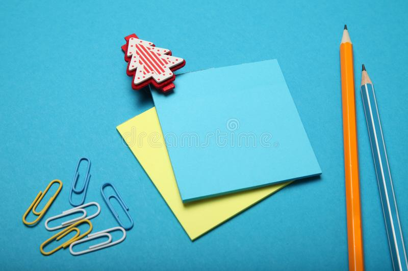 Christmas list, blank letter. Cultures communication.  stock image