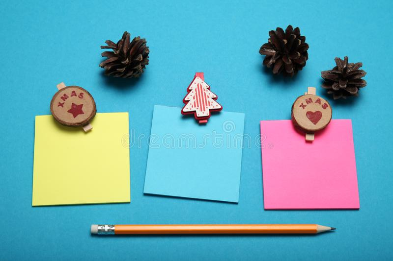 Christmas list, blank letter. Cultures communication.  royalty free stock image