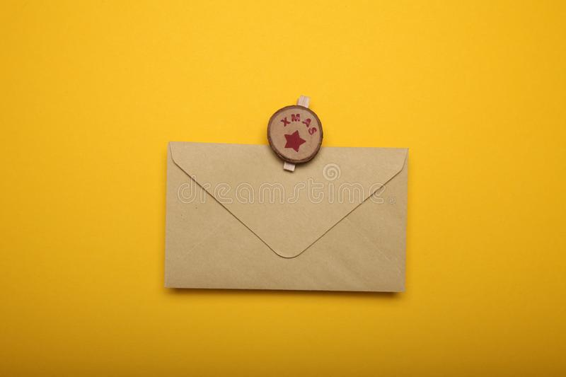 Christmas list, blank letter. Cultures communication.  royalty free stock photography