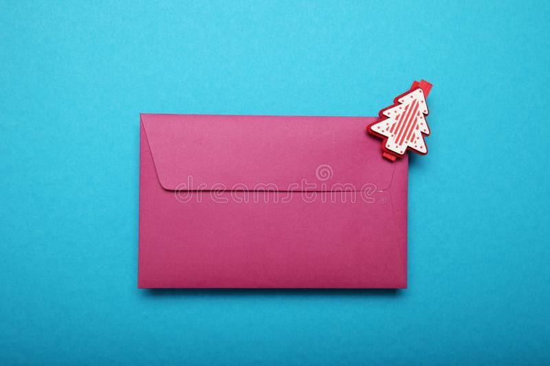 Christmas list, blank letter. Cultures communication.  stock images