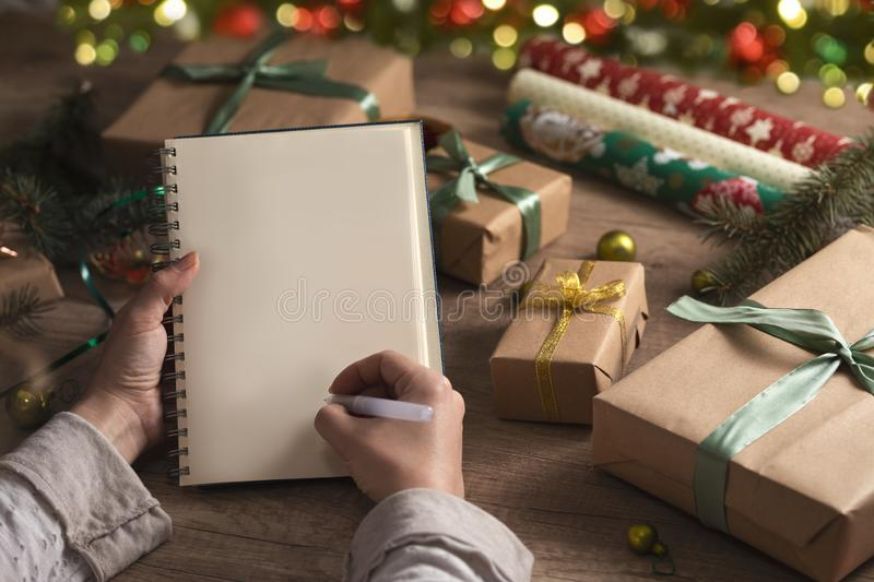 Christmas list royalty free stock images