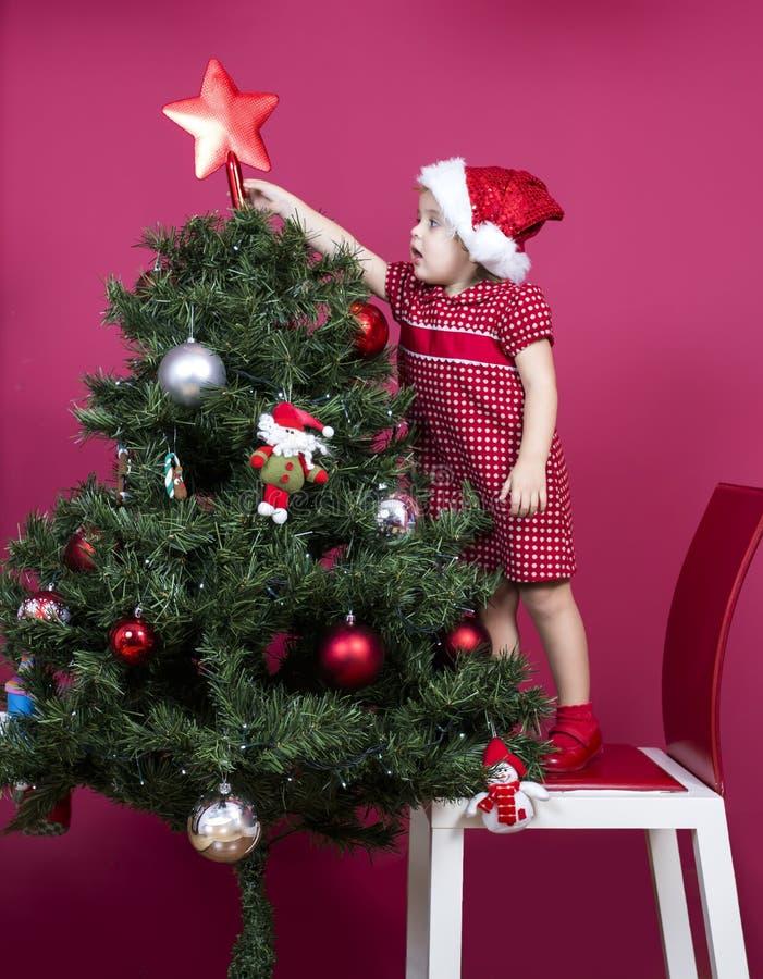 Christmas little girl royalty free stock photo