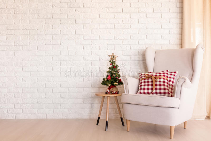 Christmas living room royalty free stock image