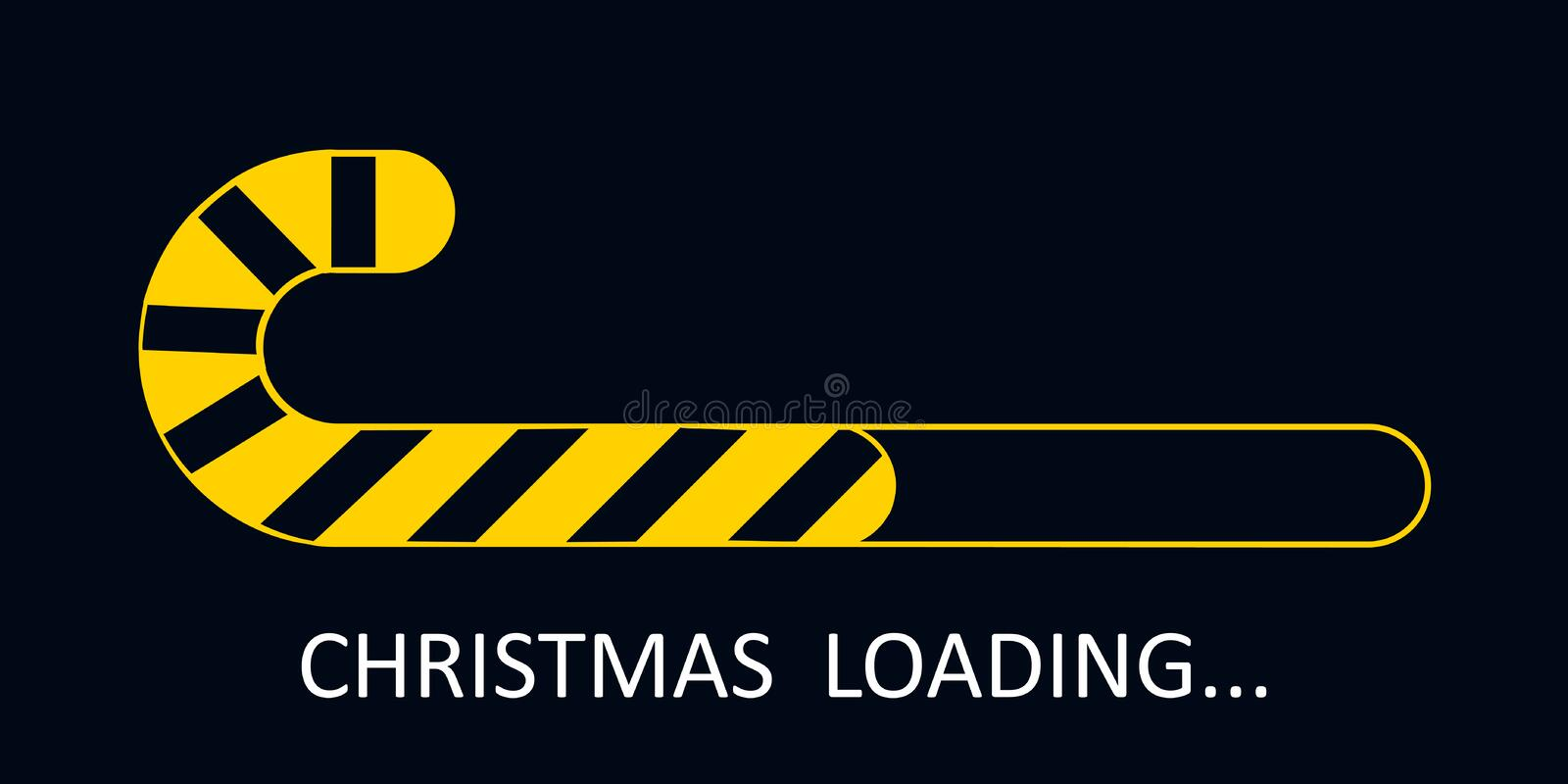 Christmas loading, banner from Christmas symbol icon, Merry Christmas, Happy New Year - vector. Christmas loading, banner from Christmas symbol icon, Merry stock illustration