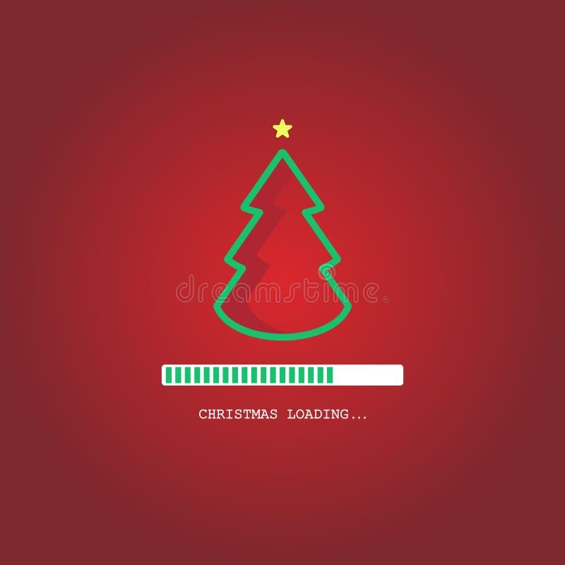 Christmas loading. Christmas tree loading bar background. vector. EPS10 vector illustration