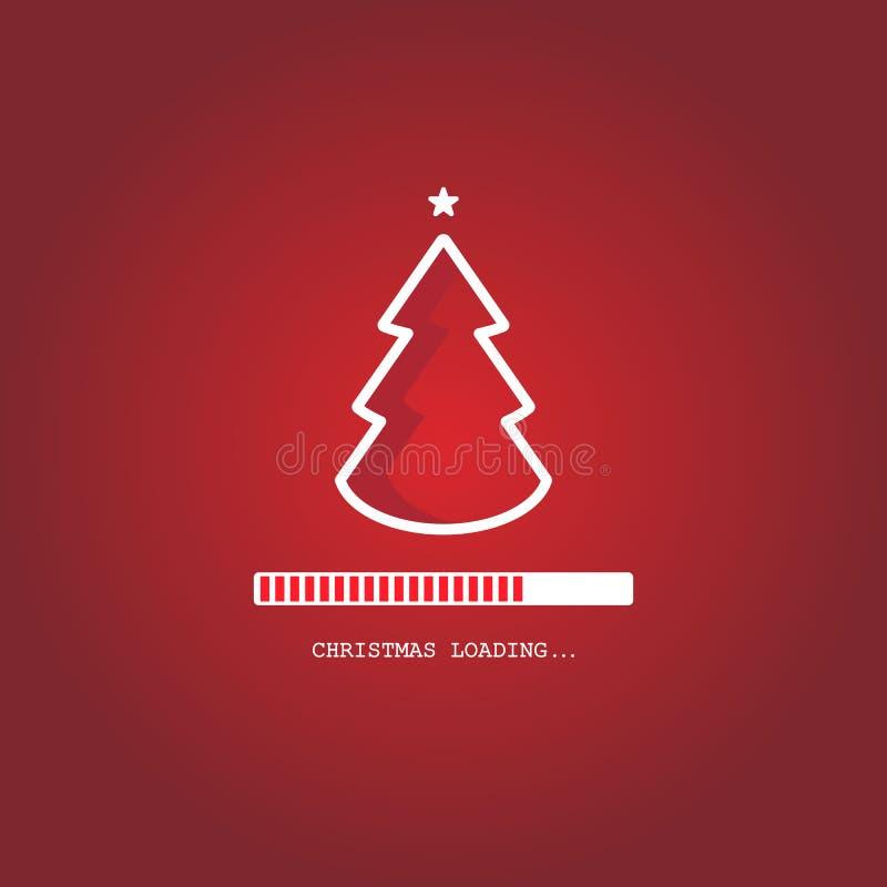 Christmas loading. Christmas tree loading bar background. vector. EPS10 stock illustration