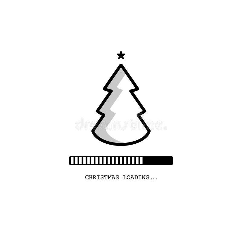 Christmas loading. Christmas tree loading bar background. vector. EPS10 royalty free illustration