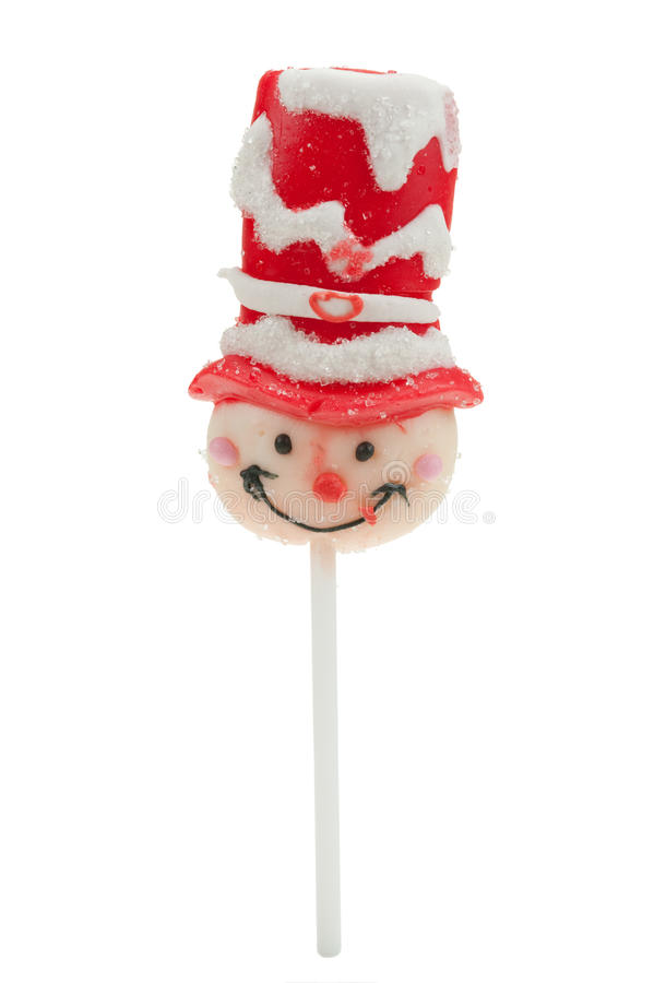 Christmas Lollipop Isolated Royalty Free Stock Photos
