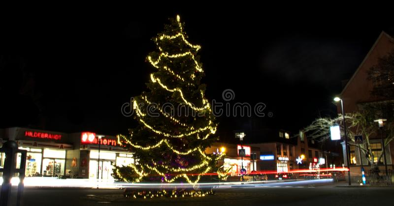 Christmas longexposure. A longexposure I made at christmas royalty free stock image