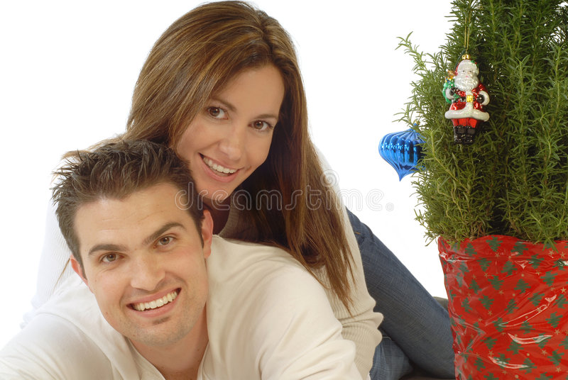 Download Christmas love stock image. Image of brunette, happy, female - 3856551