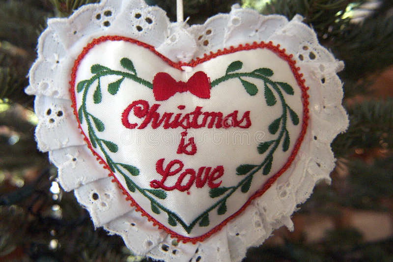 Download Christmas is Love stock photo. Image of ornament, heart - 405336