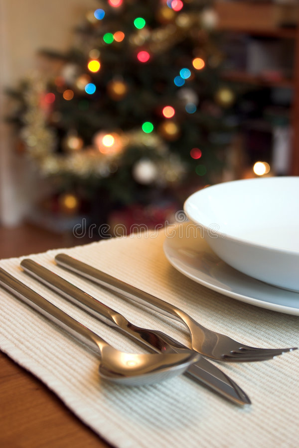 Christmas lunch stock photo