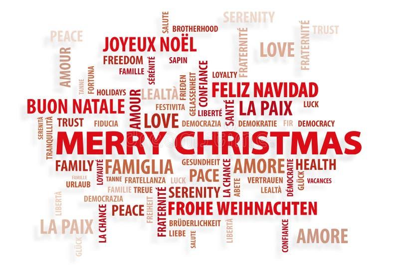 Christmas. Magic Words stock photography