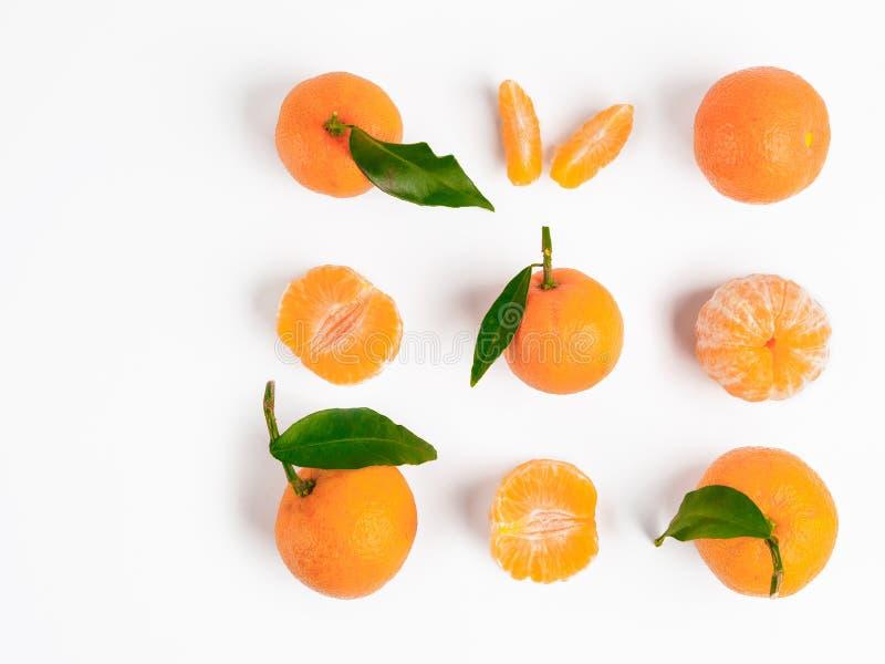 Christmas mandarin or tangerines seamless pattern stock image