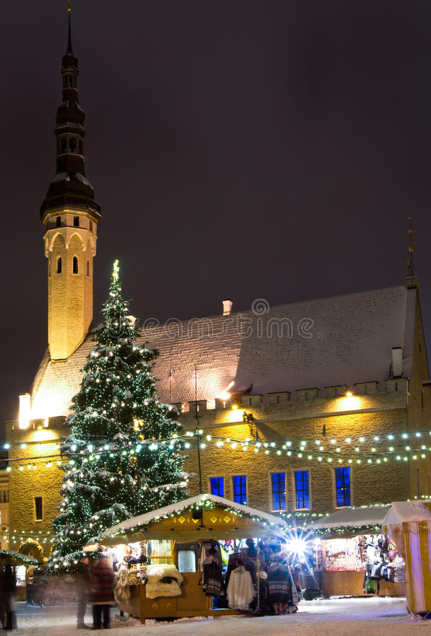 Download Christmas market stock photo. Image of night, snow, ancient - 28035806