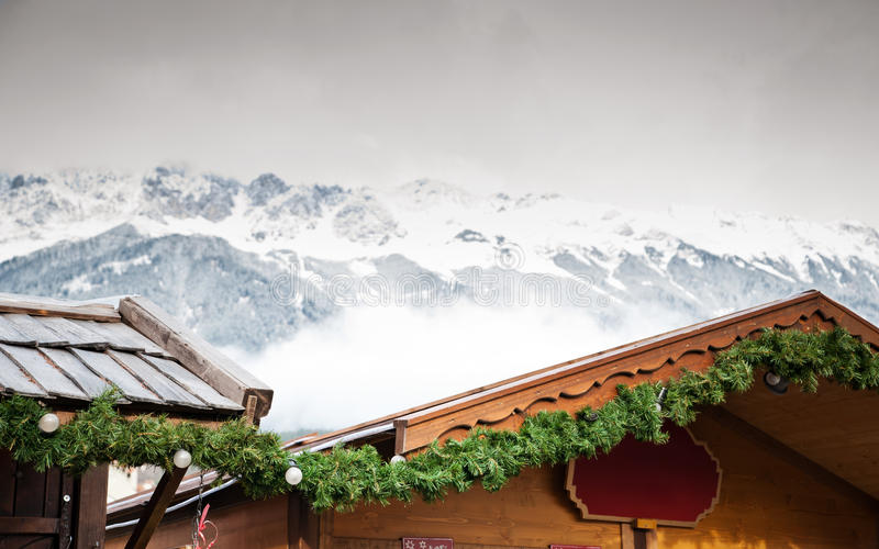 Christmas Market in the Alps stock image