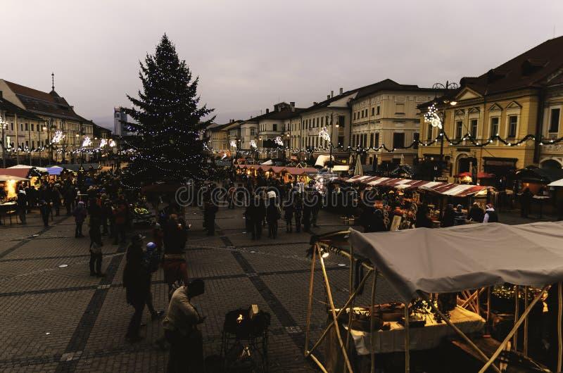 Christmas market stock image