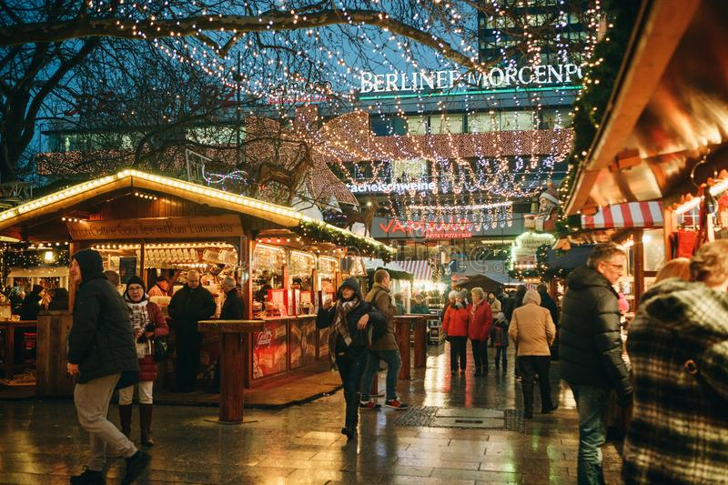 Christmas market in Berlin. stock images