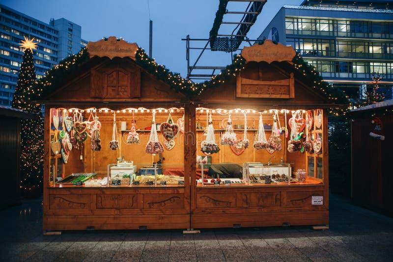 Christmas market in Berlin. stock photos