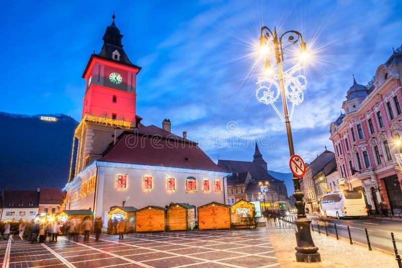 Christmas Market, Brasov, Transylvania - Romania stock photos