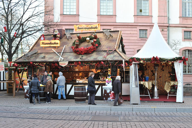 Christmas market in daytime royalty free stock images