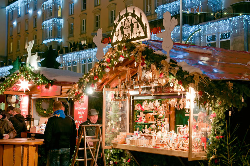 Christmas Market in Dresden royalty free stock photos