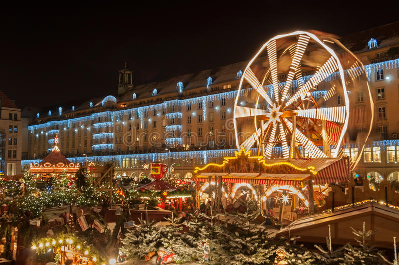 Christmas Market in Dresden stock images