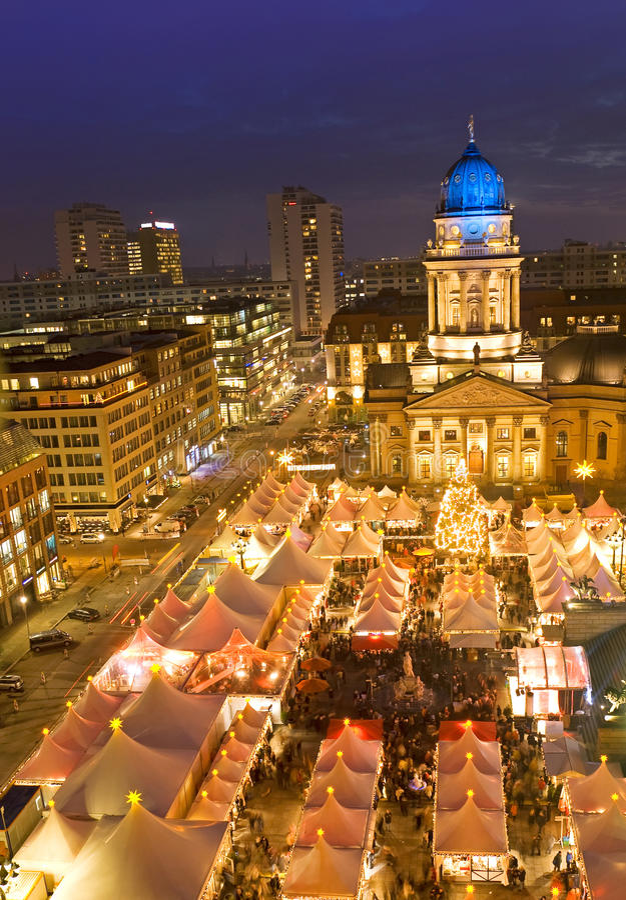 Christmas market on gendarmenmarkt berlin germany. Winterzauber christmas market on gendarmenmarkt berlin germany royalty free stock photos