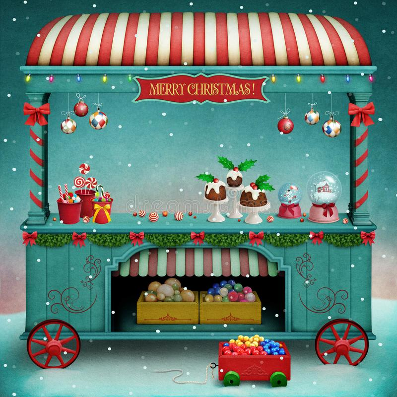 Christmas Market vector illustration