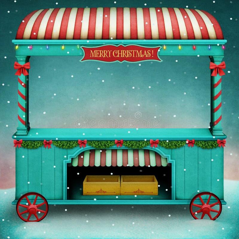Christmas Market royalty free illustration
