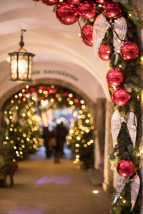 Free Christmas Market In Salzburg, Decoration, Lights And City Flair Stock Photos - 158878673