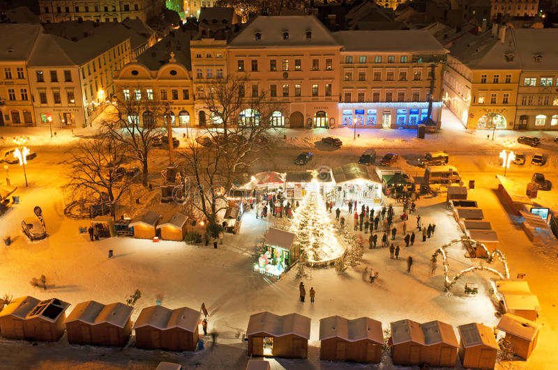 Christmas Market in Litomerice, Czech Republic stock image