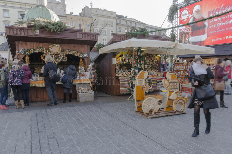 Christmas market stock photography