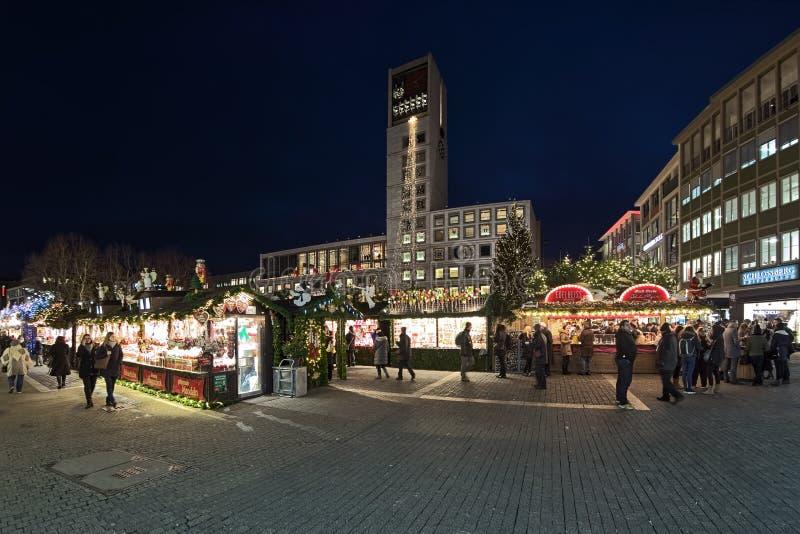 Christmas market at Market Square of Stuttgart, Germany stock image