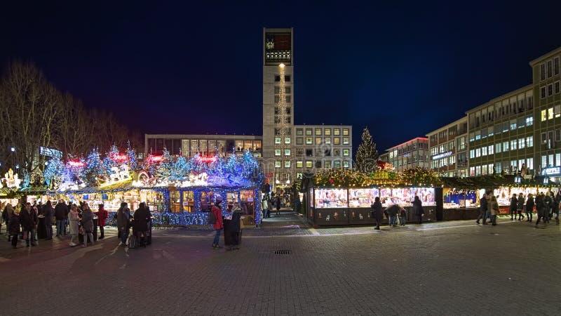 Christmas market at Market Square of Stuttgart, Germany royalty free stock image