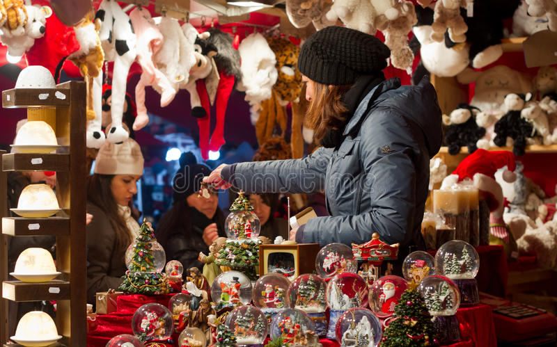 Christmas market in Milan royalty free stock photography