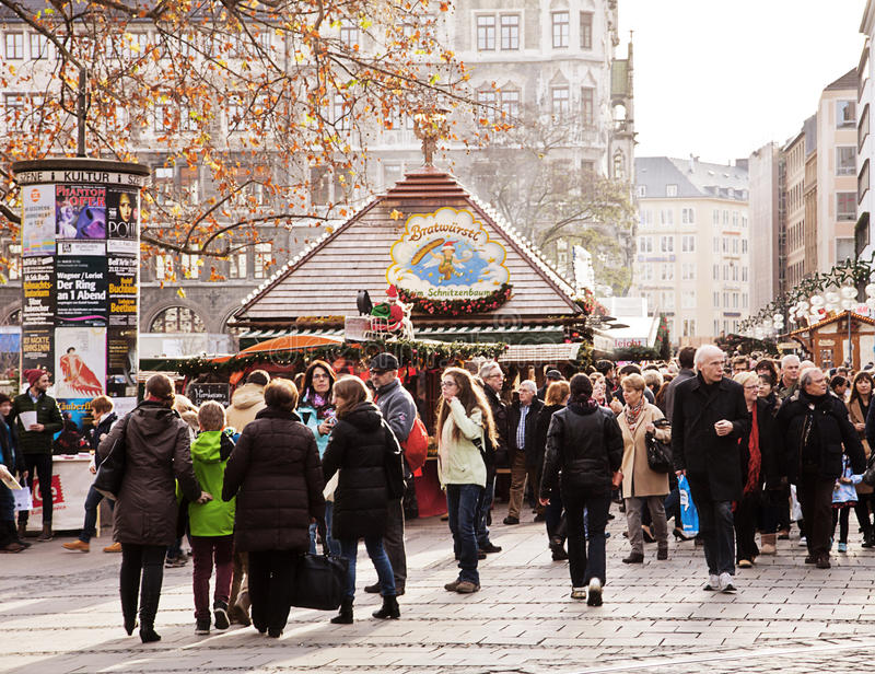 Christmas market in Munich, Germany stock photo