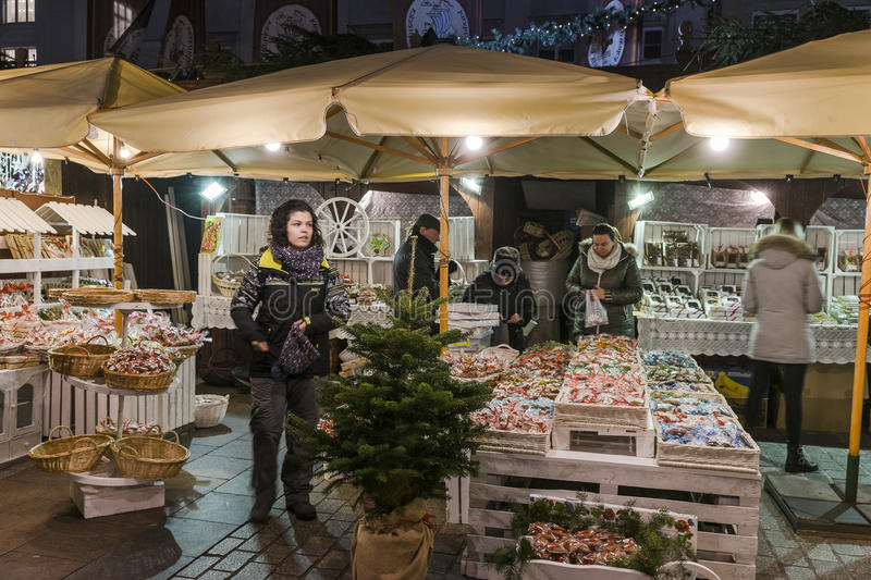 Christmas market, november 2016 stock photography