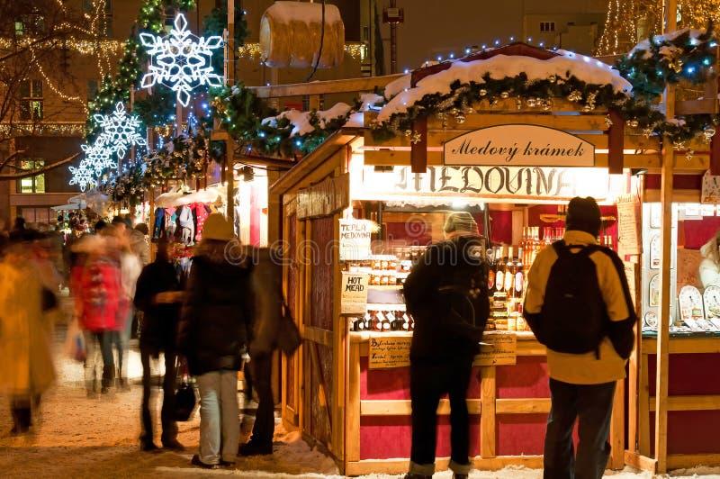 Christmas Market in Prague stock photo