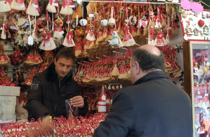 Christmas market in Rome stock photography