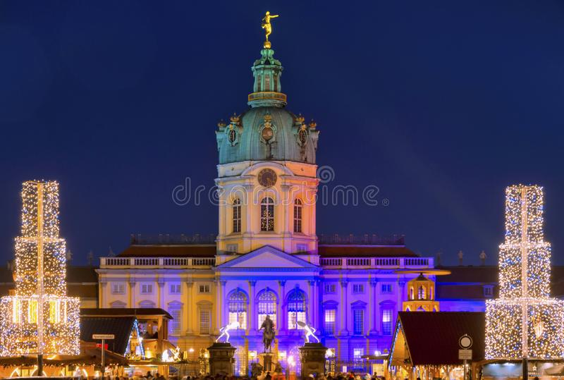 Christmas market at Schloss Charlottenburg , Berlin, Germany stock images