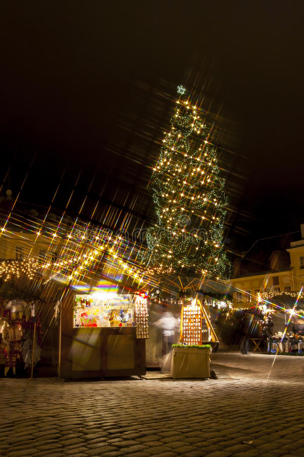 Download Christmas Market In Tallilinn Old Town Royalty Free Stock Image - Image: 26975286