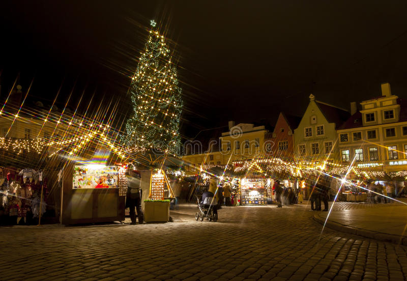Christmas market in Tallinn Old Town stock photos
