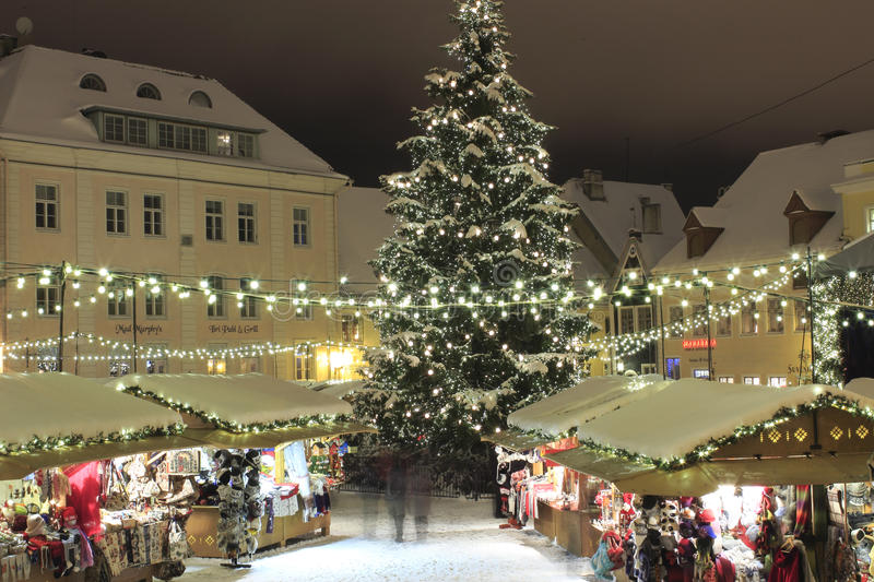 Download Christmas Market In Tallinn Editorial Stock Image - Image: 28034674