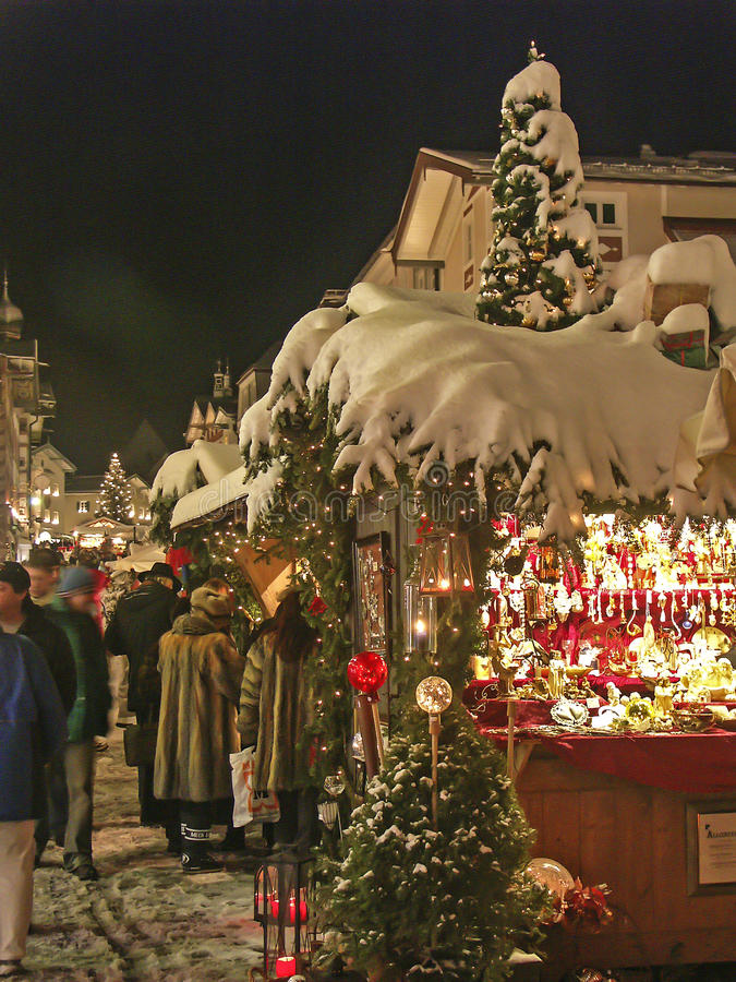 Christmas Market in Upper Bavaria royalty free stock images