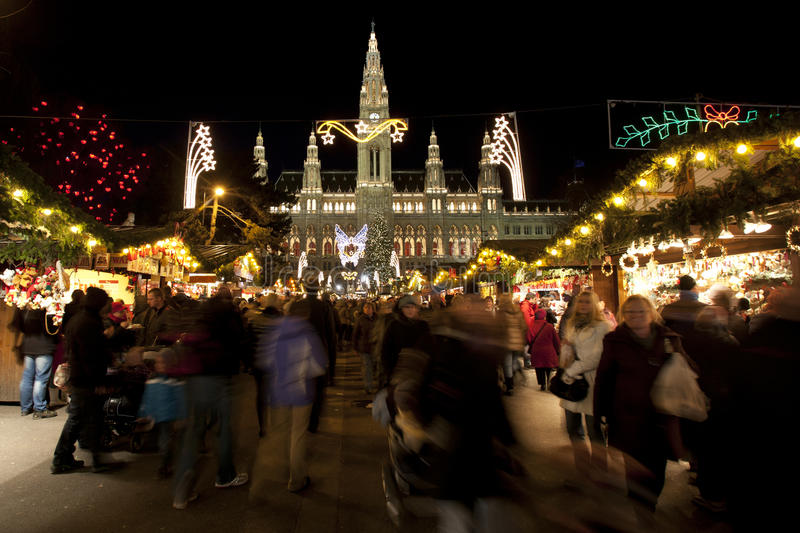 Christmas Market Vienna stock photo