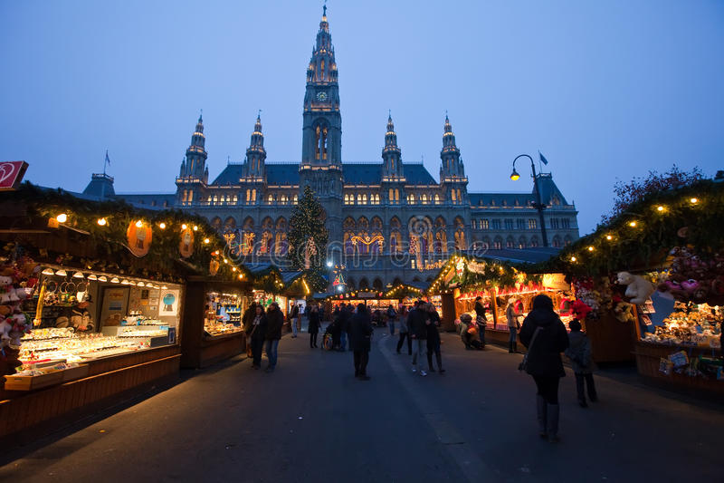 Christmas market in Vienna, Austria stock photos
