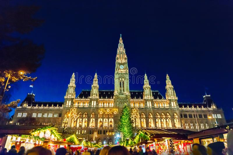 Christmas market in Vienna. Austria royalty free stock photos